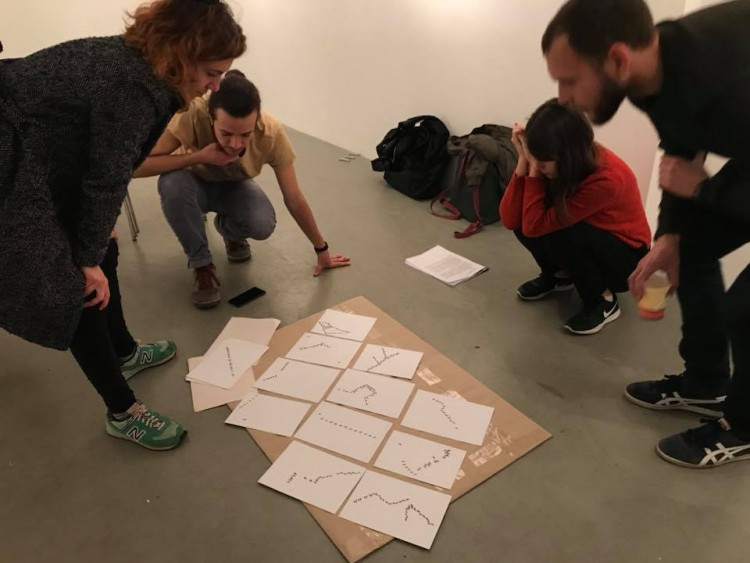 Making of the final exhibition