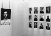 Kalin Serapionov Wanted Category 1996 Photoinstallation, 15 b/w photographs, dimensions variable