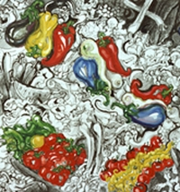 Kiril Prashkov Art - Advertisement. Symbols and Vegetables. From Drawing to Object and from Object to Text 1997 detail